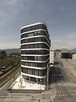 Livebild Baukamera 3 - Webcam 'Ansicht von Süden' - Baustelle Neubau Merkur Campus, Graz-Jakomini (Standbild)